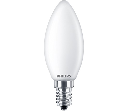 Philips LED Gyertya opál Classic 4,3W E14 (~40W) 470lm 2700K